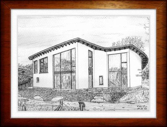 Haus der Wilden Weiden 2   Bleistiftzeichnung  42 x30 cm