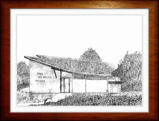 Haus der Wilden Weiden  Bleistiftzeichnung  42 x30 cm