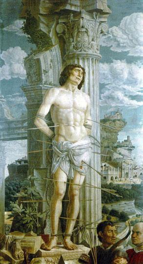San Sebastián de Andrea Mantegna. Museo del Louvre - París.