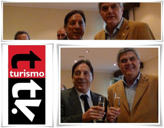 Roberto Brunello, presidente de FEHGRA y Oscar Ghezzi, presidente de la CAT