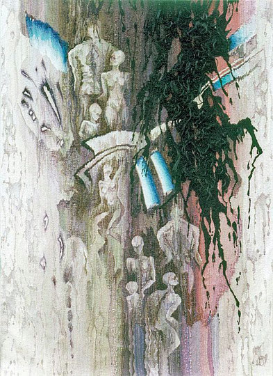 """Ольга Попова гобелен """"Холокост"""" 265х145, 1990, БГХМ"""