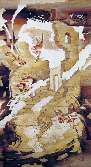 """Ольга Попова гобелен """"Погружение"""", 290х140,2003,  БГХМ"""