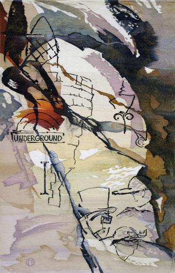 "Ольга Попова гобелен ""UNDERGROUND"" 265х138, 2005, БГХМ"