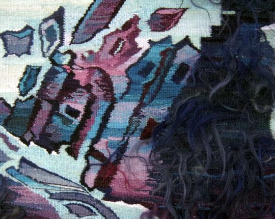 """Ольга Попова гобелен """"Затмение"""" фрагмент, Мемориальный музей Юрия Гагарина, г. Гагарин"""