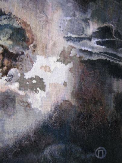 """Ольга Попова гобелен """"Амплитуда бессилия...""""  фрагмент 2014"""