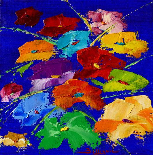 alain-belleguie-Fleurs d'art'ifice H/CT 20 cm x 20 cm
