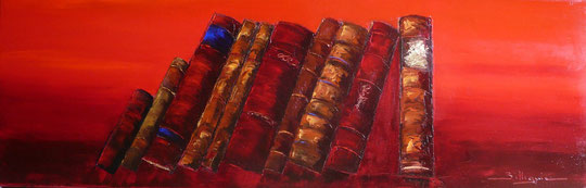 alain-belleguie-livres-d-or H/T et feuilles d'Or 80 cm x 30 cm (Collection privée)