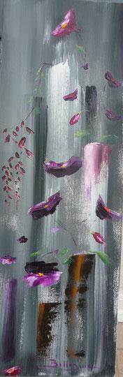 alain-belleguie-violine Huile et acrylique/T 60 cm x 20 cm