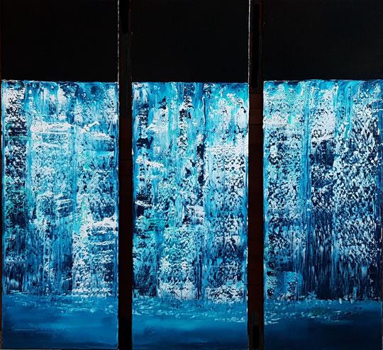 alain-belleguie-milkyfalls-Gullfoss-Iceland H/T Triptyque 90 cm x 90 cm