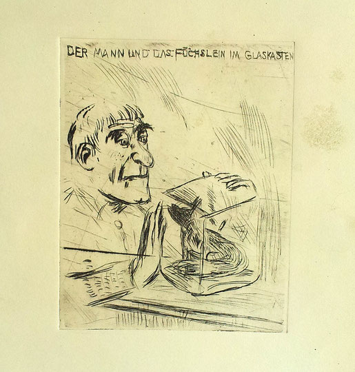 Der Mann und das Füchslein im Glaskasten