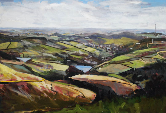 Holme Moss, Acrylic on canvas 55 x 70cm (SOLD)