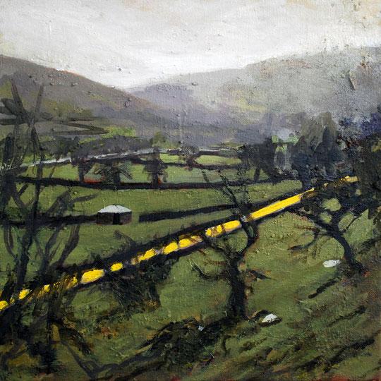 Over Buckden, Acrylic on canvas 30 x 30cm (SOLD)