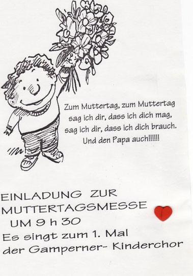 Originaleinladung aus dem Jahr 2001