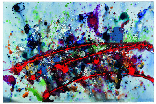 Spannungsbogen   Druckfarbe auf Leinwand   2011