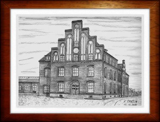 Haus am Hafen Wismar   Bleistiftzeichnung  32 x 24 cm