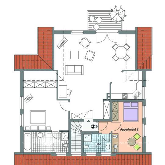 Grundriss DG Wohnung 20 qm