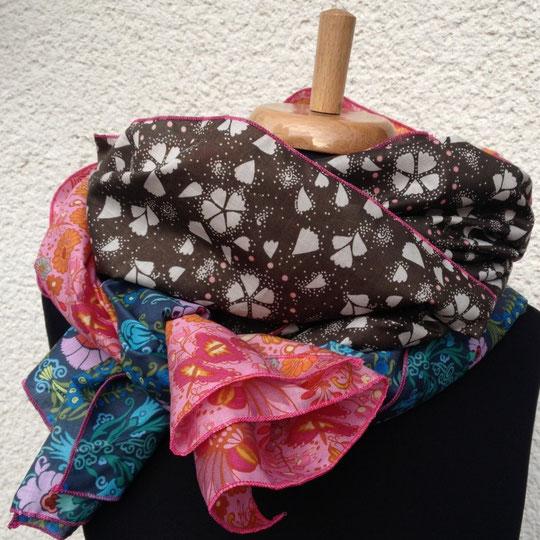 Schal aus Baumwoll-Voiles im Mix