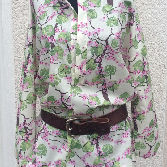 Bluse aus Cotton-Voile von Amy Butler / ALCHEMY