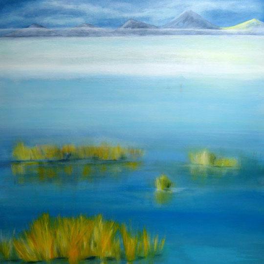 Moorlandschaft, Acryl auf Leinwand, 80x100 cm, 950 €