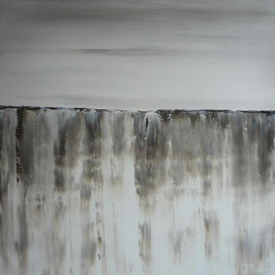黃果樹瀑布-Grande-cascade-de-Huangguoshu-(Chine)-alain-belleguie H/T 70 cm x 70 cm (Collection privée)