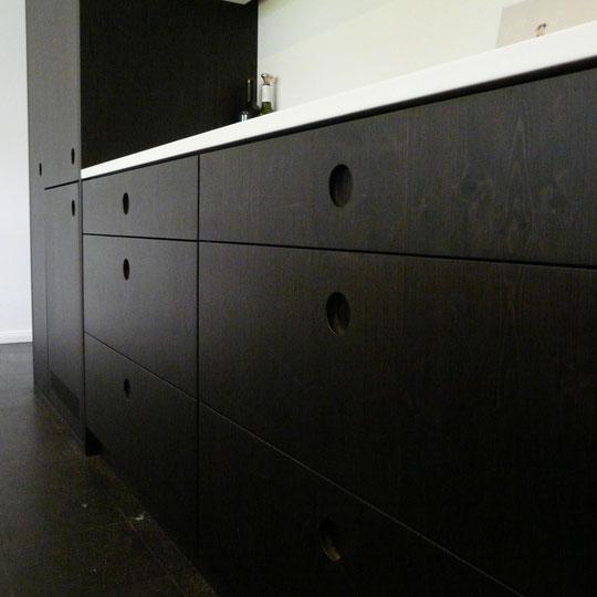 küche schwarz braun - mirko danckwerts möbelgestaltung