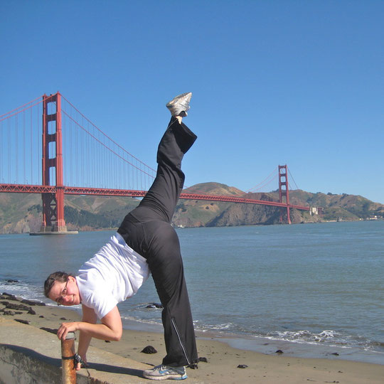 Valli in San Francisco, Golden Gate Bridge, Juni 2012.