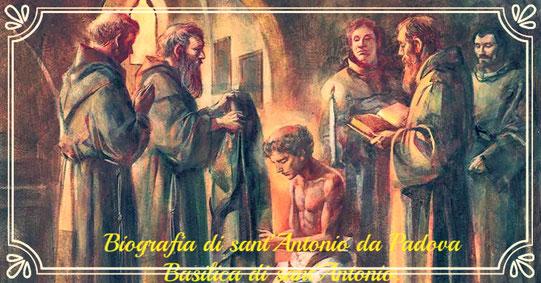 CLICCA PER CONOSCERE LA VITA DI SANT'ANTONIO DA PADOVA