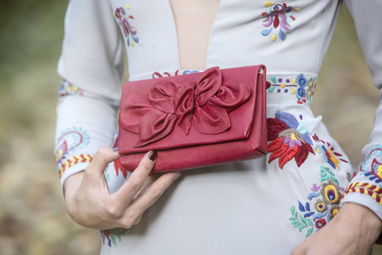 #red clutch, #leather clutch