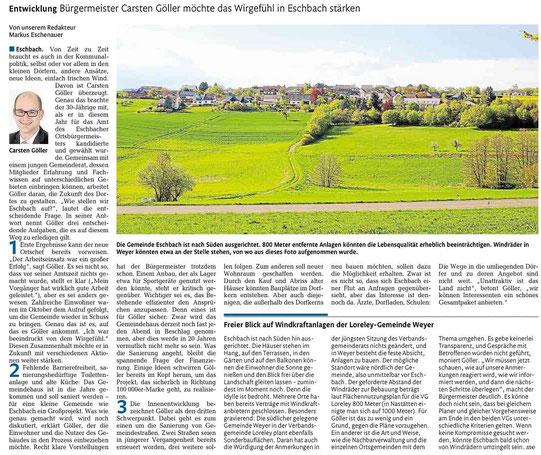 Rhein-Lahn-Zeitung v. 13.12.2014