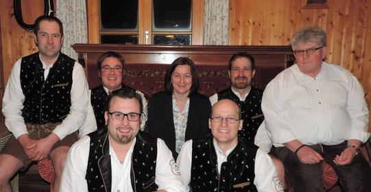 von links: Roland Steiner, Josef Suppmair, Claudia Beck, Bernhard Keller, Georg Wohlleben  vorne: Patrick Schmid, Gerhard Beck