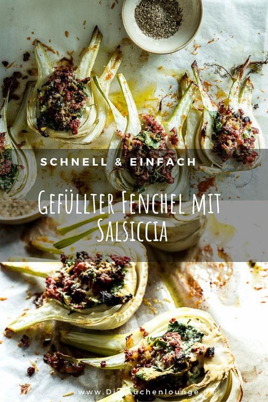 Gefüllter Fenchel mit Salsiccia und Blattspinat