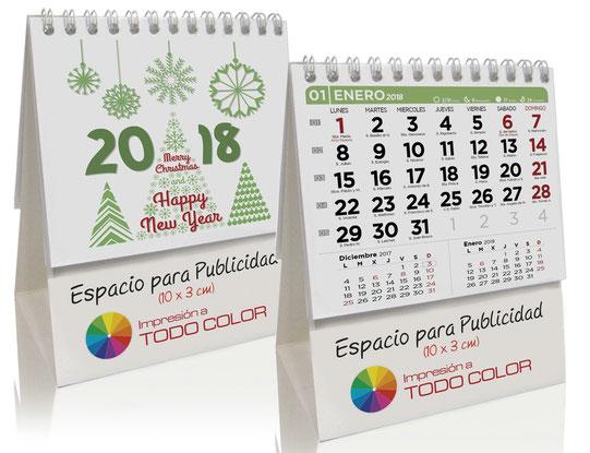 Calendario de 7 hojas sobremesa simple