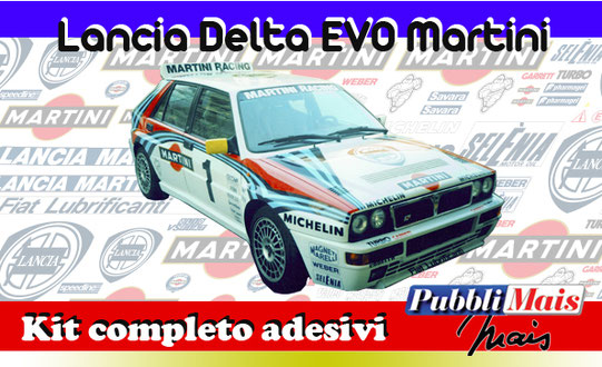 price cost kit complete stickers decals sponsor lancia delta evolution 1992 martini online shop pubblimais