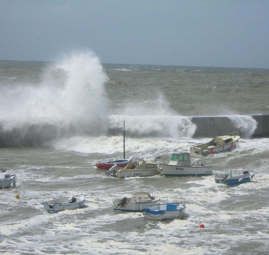 tempête à St Michel 2008