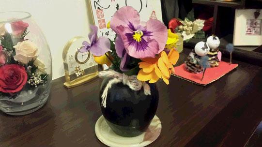 Un magnifique bouque de fleurs du jardin de mon élève