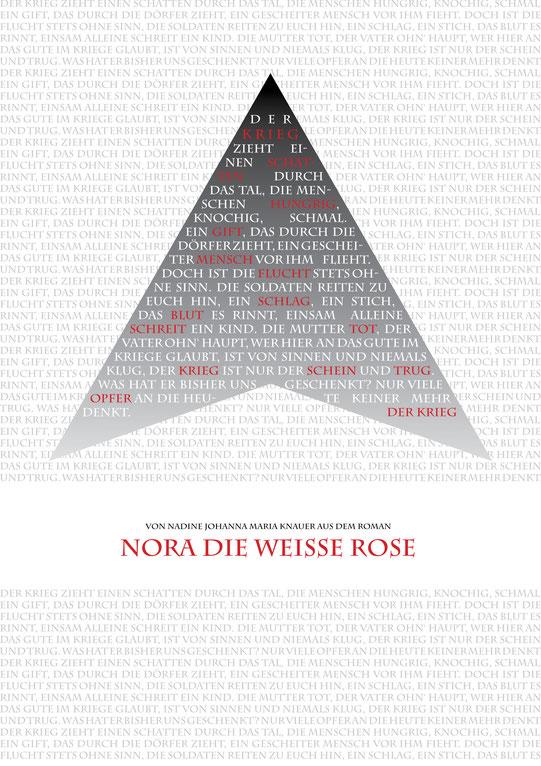 """Plalat zu Historienroman """"Nora, die weiße Rose"""" von Nadine J. M. Knauer"""
