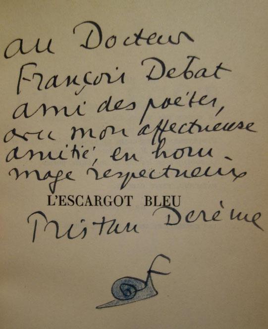 Tristan Derème, L'Escargot bleu, édition originale, livre rare