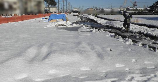 ~道路を造ろう~【森戸新田工区の場合】雪1