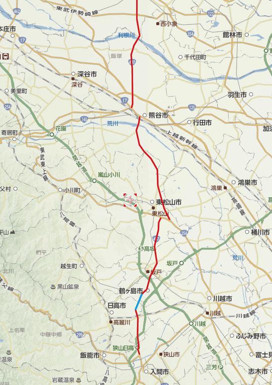 (以下も全てYahoo地図より) 埼玉県内の国道407号線です。