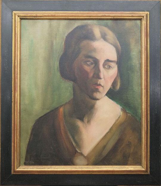 te_koop_aangeboden_een_portret_schilderij_van_de_nederlandse_kunstschilder_toon_kelder_1894-1973_bergense_school