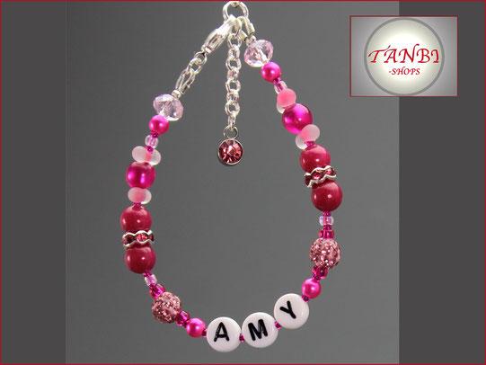 kinderarmaband-Namensarmband-Kindernamensarmband-Armband-Kinder-Kind-Name-pink