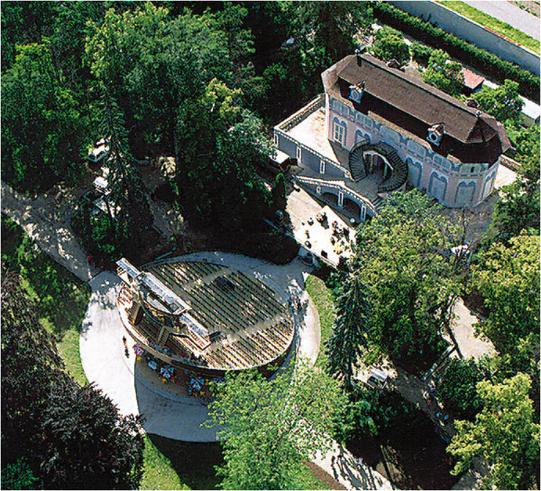 Freilichtheater in Český Krumlov.