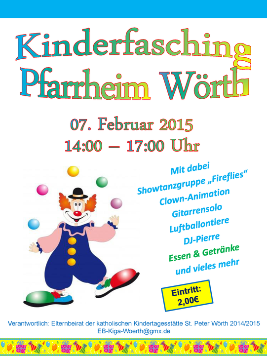 Kinderfasching Kita St. Peter Wörth