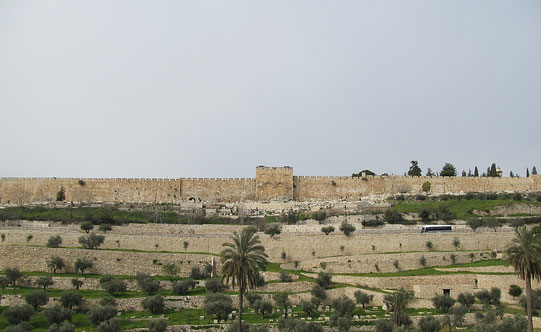 The Kidron Valley and the gates of Mercy