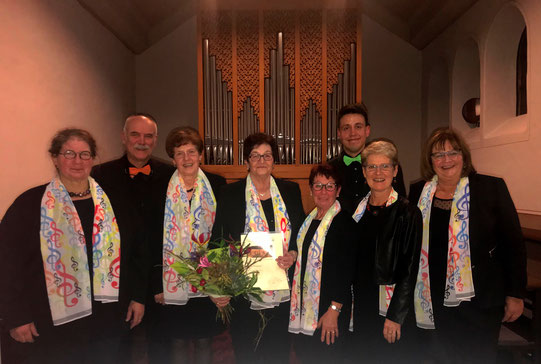 Caecilienfest 2019 Ehrung 60 Jahre Mitgliedschaft Leni Hompesch Kirchenchor Nütheim/Schleckheim