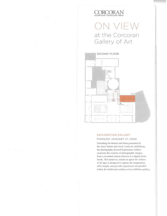 Camera Obscura Exhibit in the Corcoran Brochure
