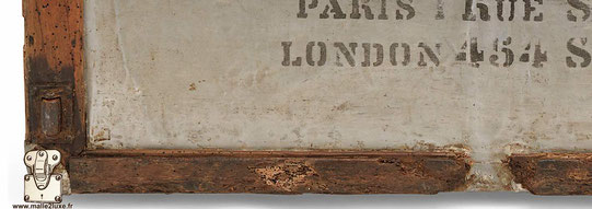 malle aluminium poignée laiton non d'origine louis vuitton bois pourri