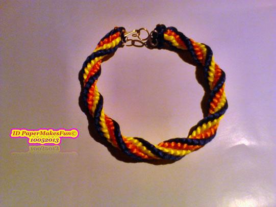 Kumihimo - Bracelt 3 Colors