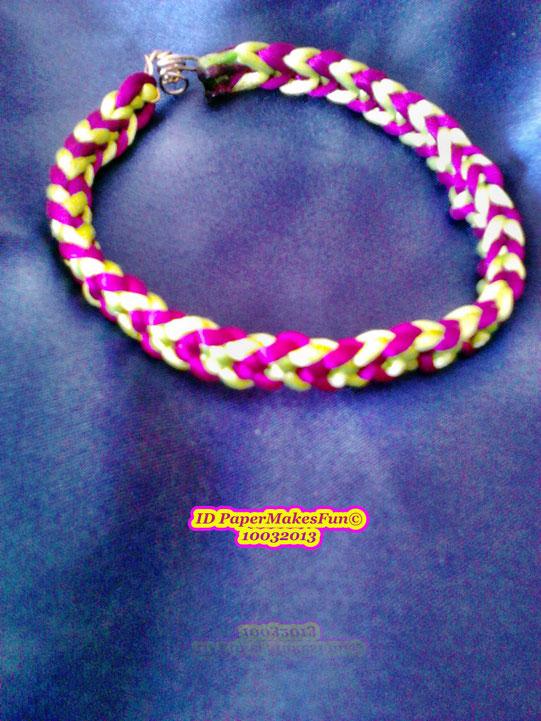 Kumihimo flat Bracelet