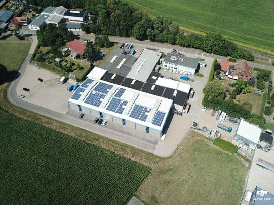 Drohnenaufnahme der Fricke Metallbau GmbH